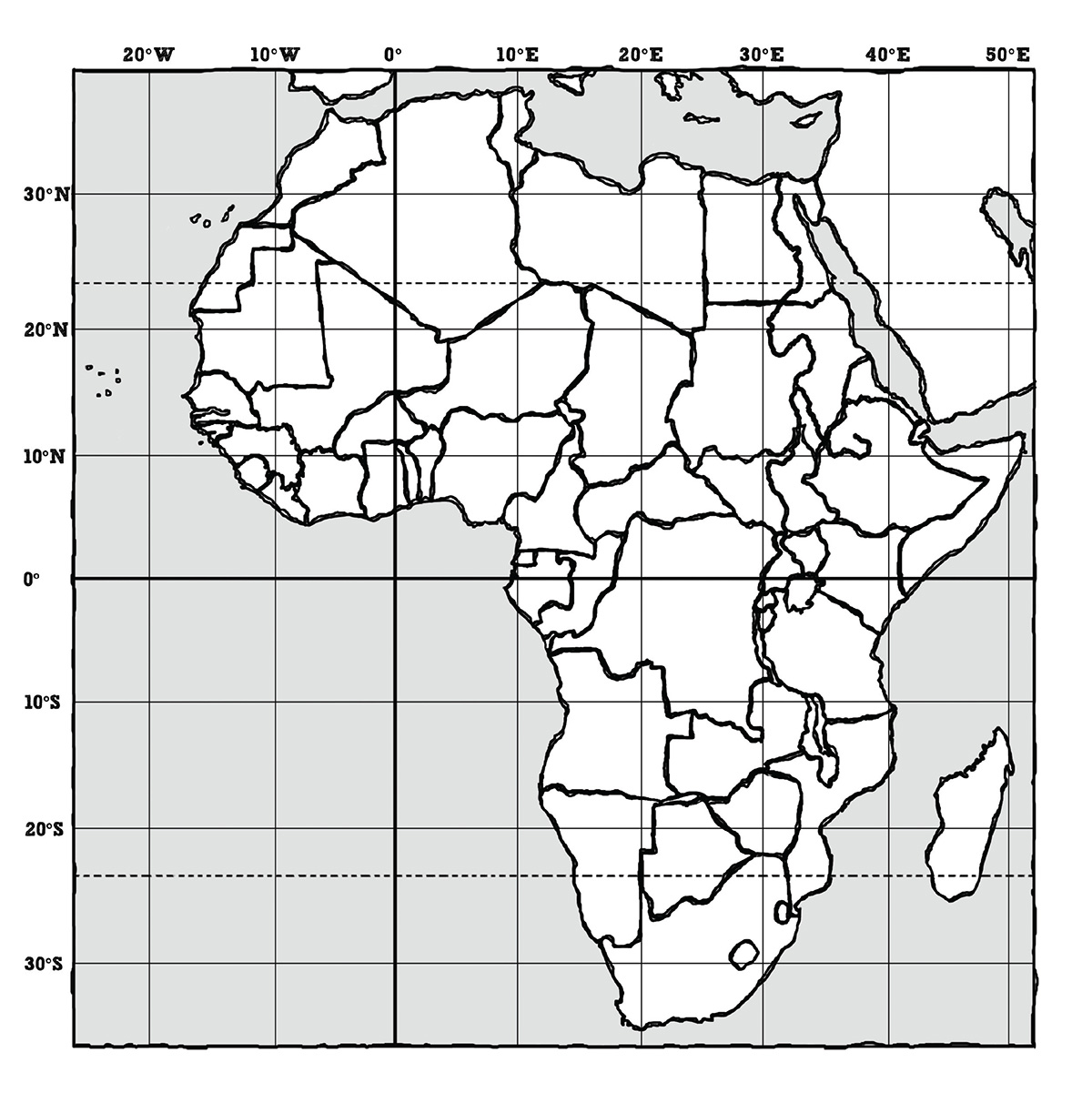 Africa Map Outline Canvas Passport To The Nations